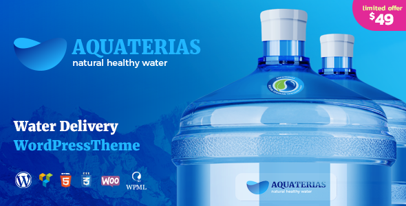 Aquaterias Drinking Mineral Water Delivery Wordpress Theme Water Delivery Wordpress Theme Mineral Water