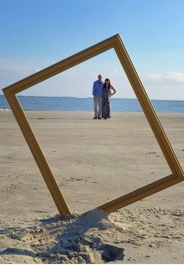 Closer shot with a frame stuck in the sand....... A fun, inexpensive prop!
