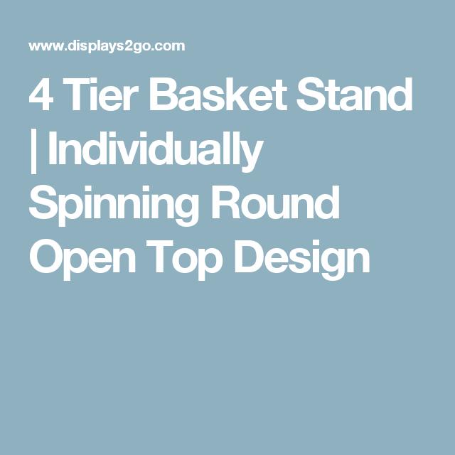 4 Tier Wire Dump Bin w/Rotating Baskets, Floorstanding, Header ...