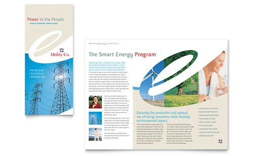 Utility  Energy Company Tri Fold Brochure Template  Brochures