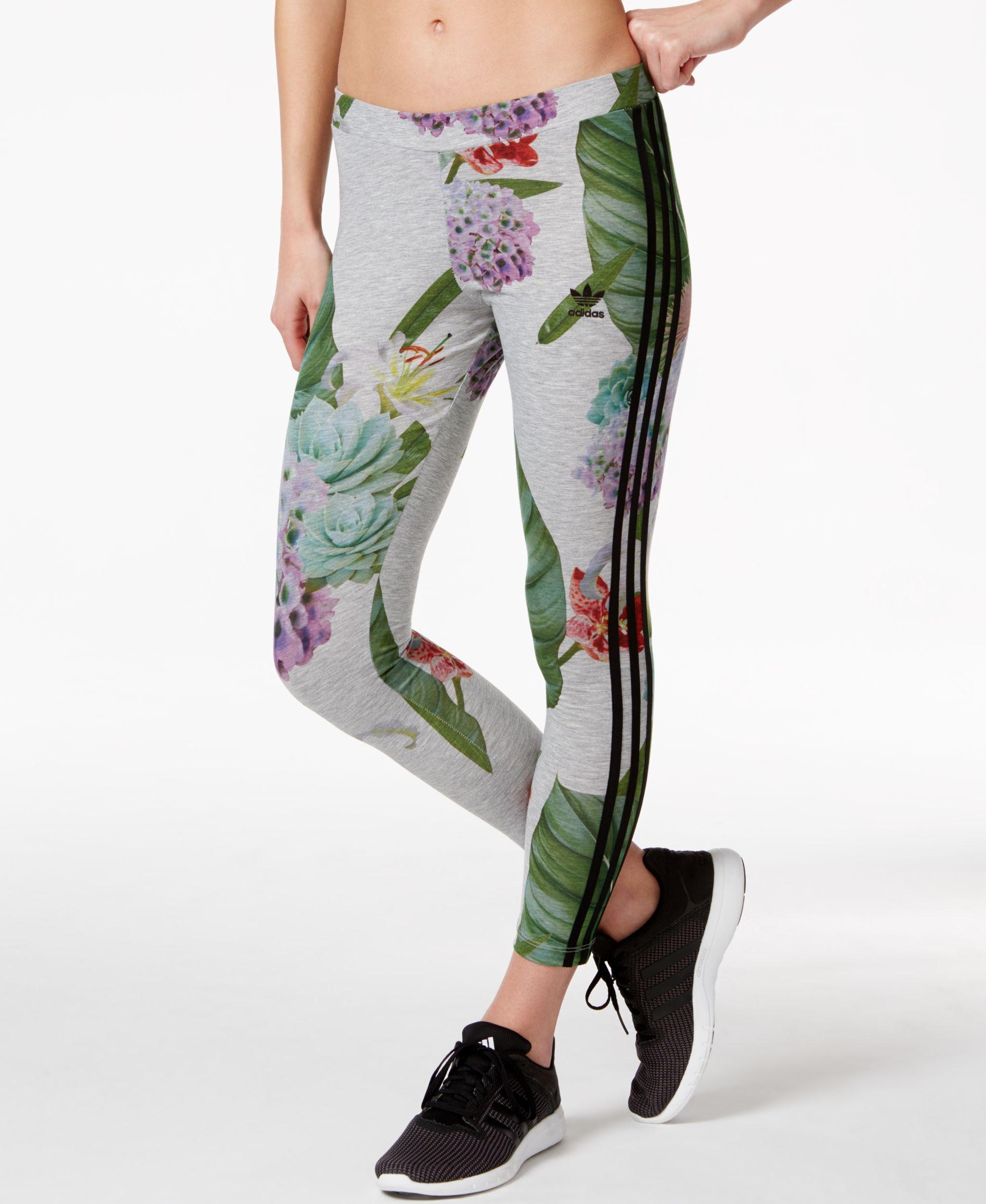 09fe634245 adidas Originals Floral-Print Leggings | Gym Style in 2019 | Floral ...