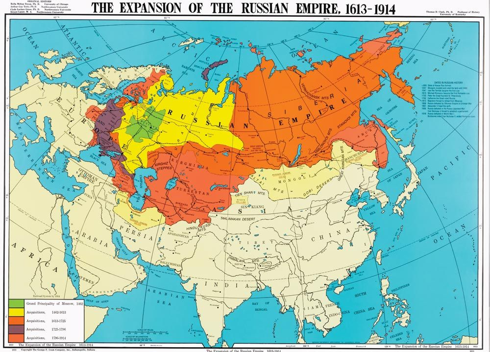 A Map Of The Territorial Expansion Of The Russian Empire 1613 1914 1000x718 Map Funny Maps Europe Map