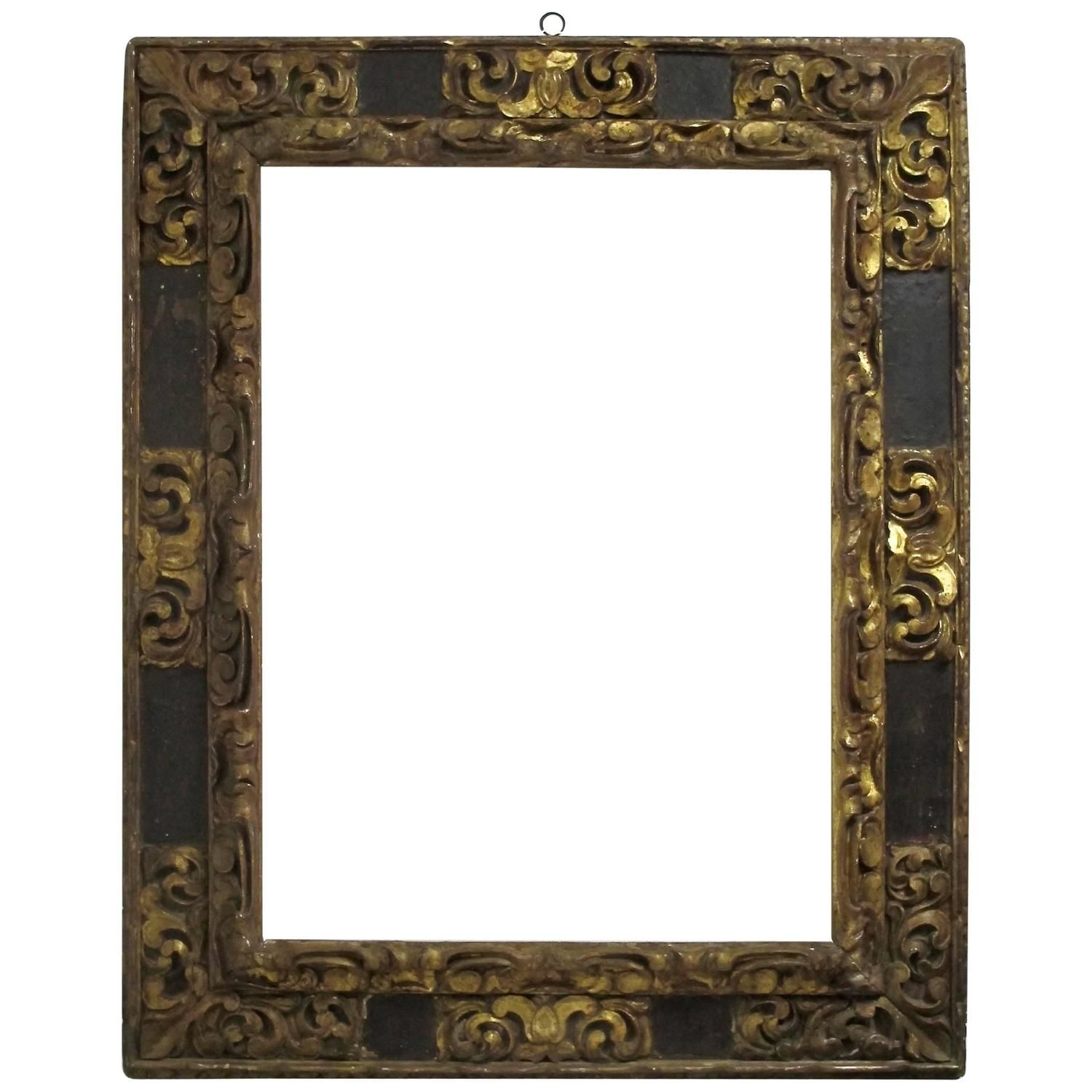 Large Spanish Colonial Carved And Gilt Frame 18th Century