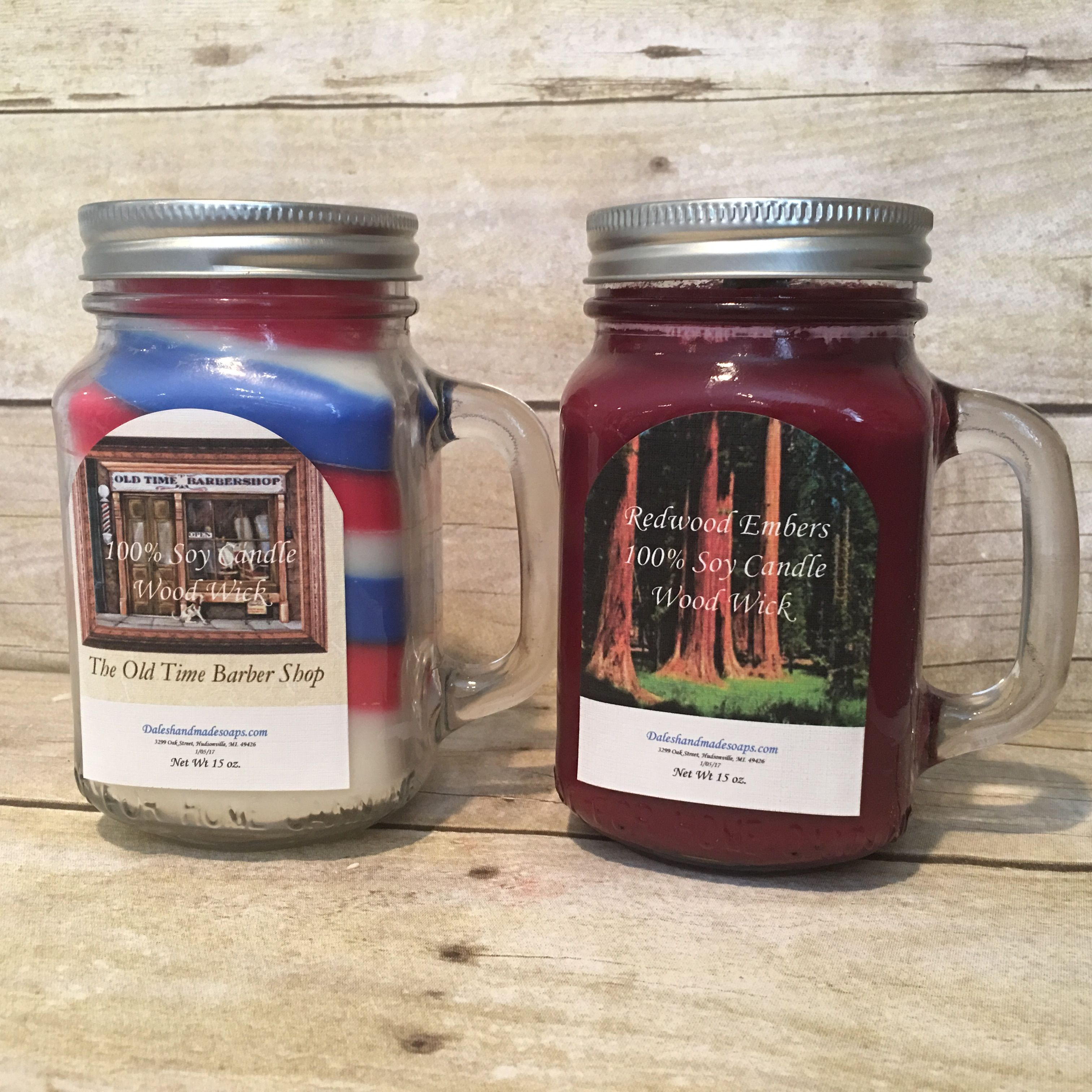 Two new scents, Old Time Barbershop, and Redwood Embers.