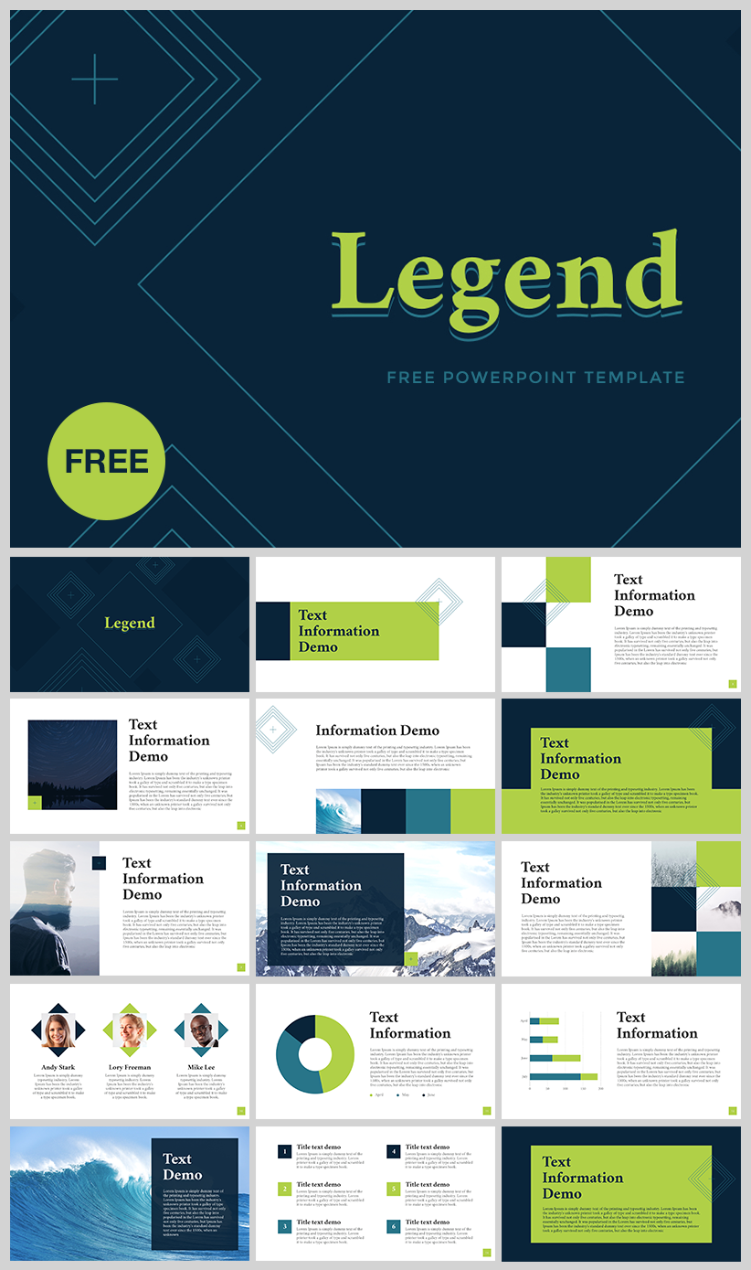 "free powerpoint template ""legend"" - download link… 