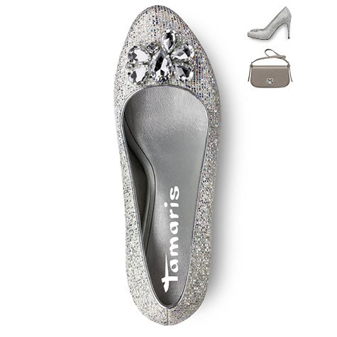 Art.-Nr.: 22442 #tamaris #pumps #silver #celebration #festive #fall #winter #classy #cinderella