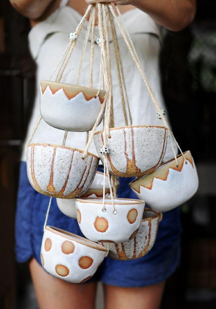 Gartenkeramik töpfern – faszinierende Ideen für handgefertigte Gartendeko #ceramicpottery