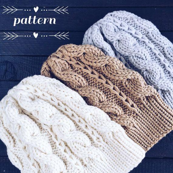 Pattern: Woolture ADELE Beanie Pattern Instant por woolture en Etsy ...