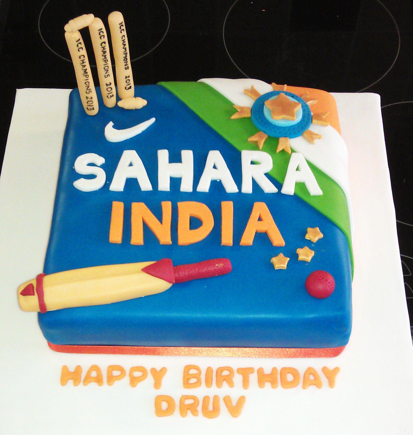 Swell India Cricket Cake With Images Cricket Cake Cricket Birthday Funny Birthday Cards Online Elaedamsfinfo