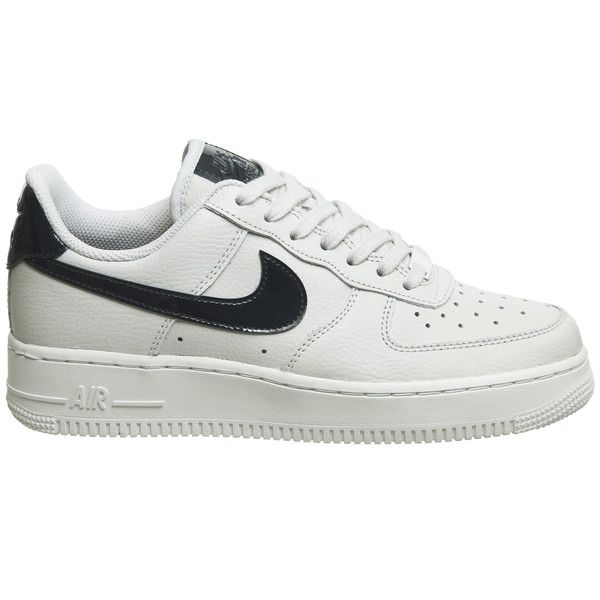 b2334061da Nike Air Force 1 07 Trainers Vast Grey Obsidian ($105) ❤ liked on Polyvore  featuring shoes, sneakers, nike shoes, gray shoes, nike trainers, grey  trainers ...