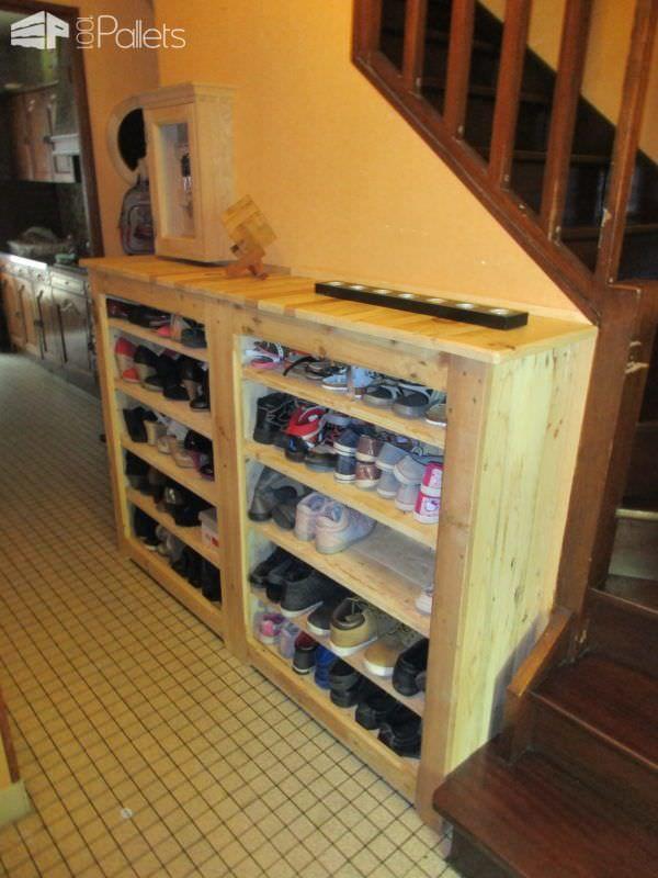 Beautiful Handy Hallway Pallet Shoe Rack Pallet