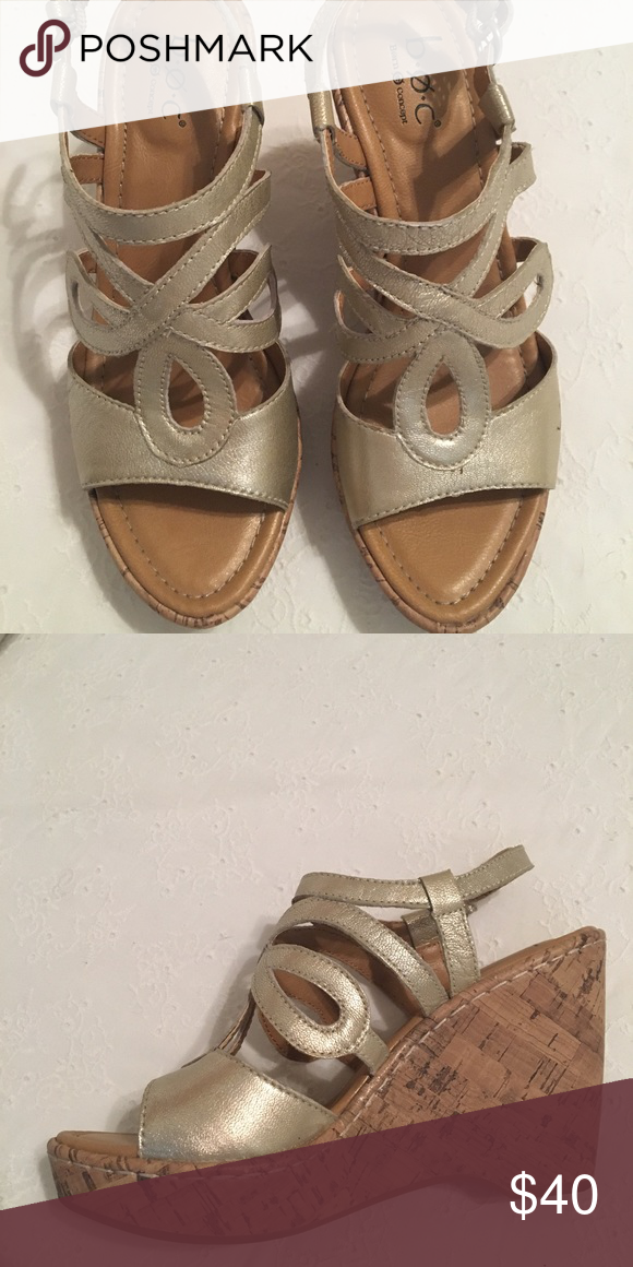 18ea34054f16 Born wedge sandals. New! Brushed gold wedge. Never worn. Born Shoes Wedges