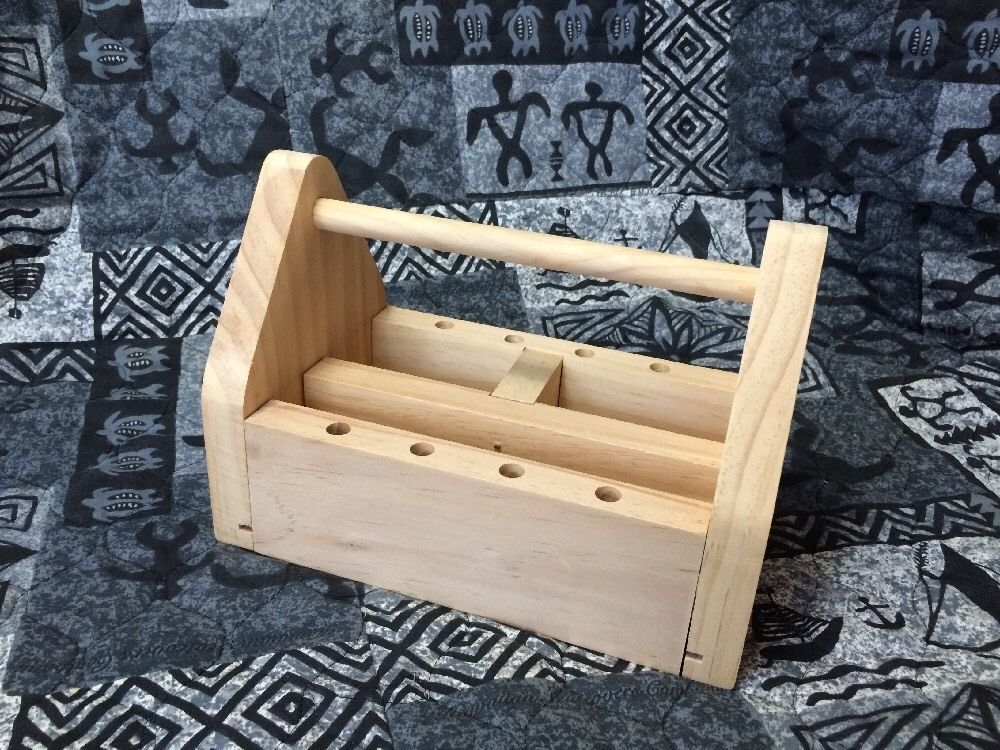 Small Wood Tool Box Garden Tools Storage 3 Section 5 L X W 6 H Craft Art Unbranded