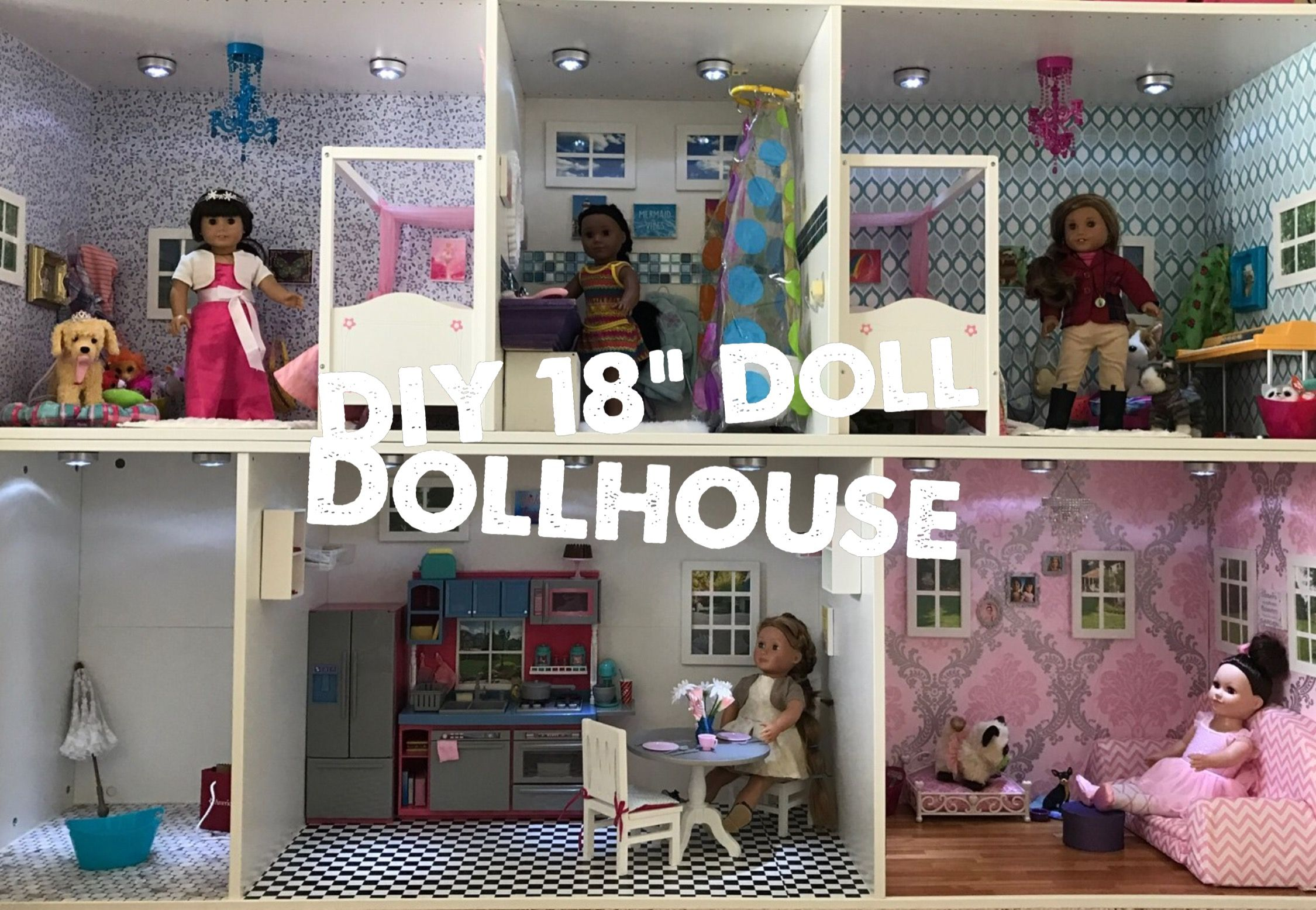 DIY Dollhouse for an 18 Inch Doll Fenced in Momma