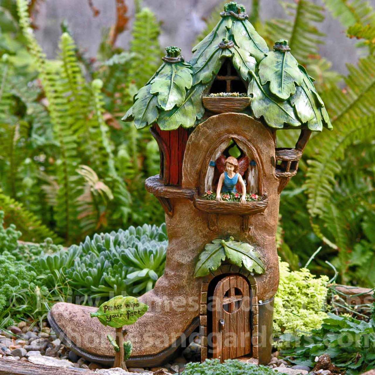 Excellent Garden Itself Is Quite But Lantern Setting Is Truly Is Tiny Fairy Suspended House Garden Fairy Facebook Fairy Garden Uk Lamp Over Woodland Boot House Gardens