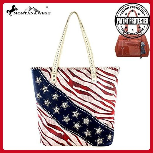 Montana West American Pride Stars and Striped Concealed Carry Purse