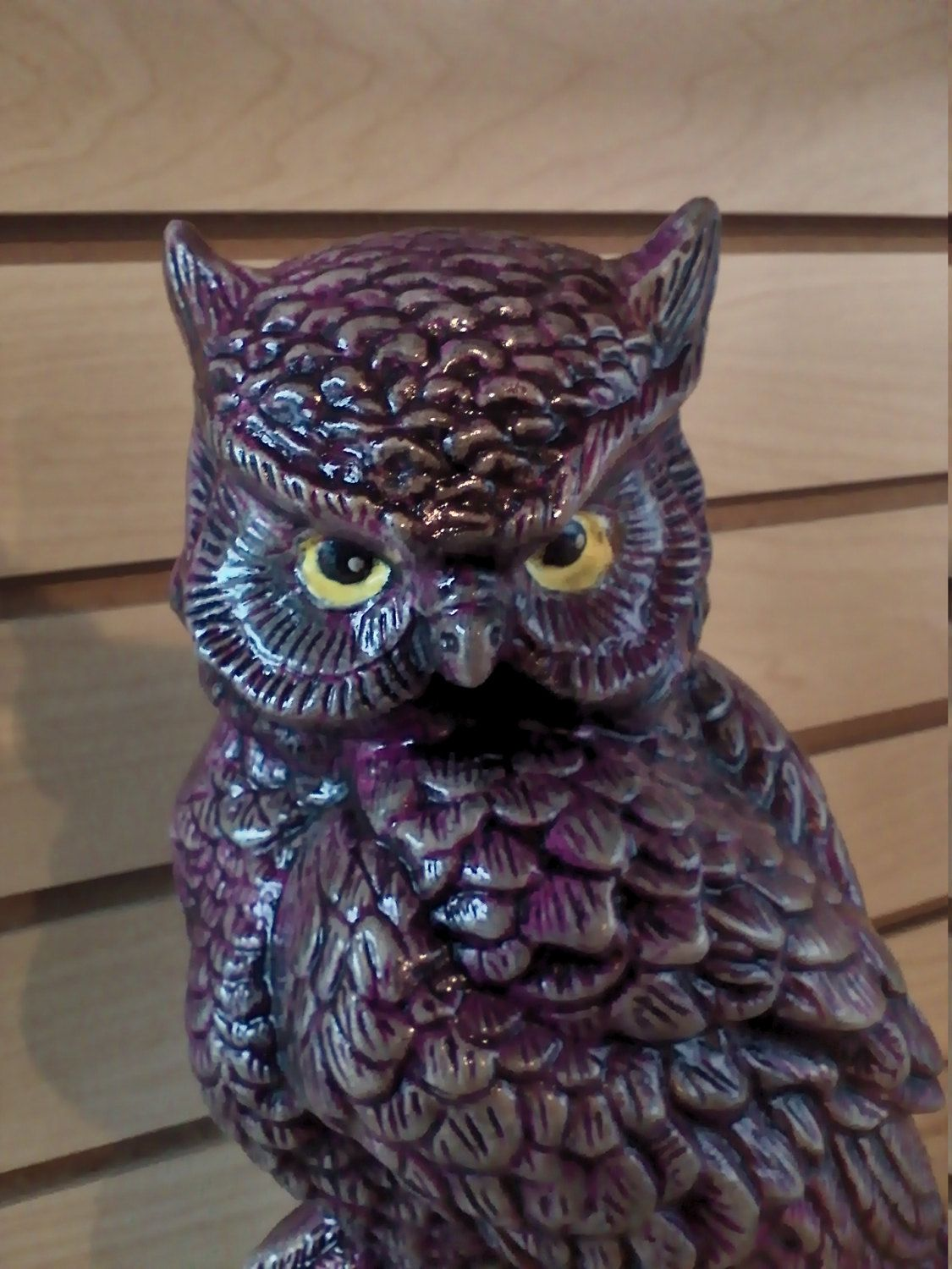 Outdoor garden statue Ceramic Owl Large whimsical owl with