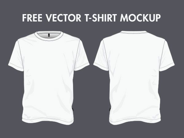 t shirt mockup vector - Roho4senses