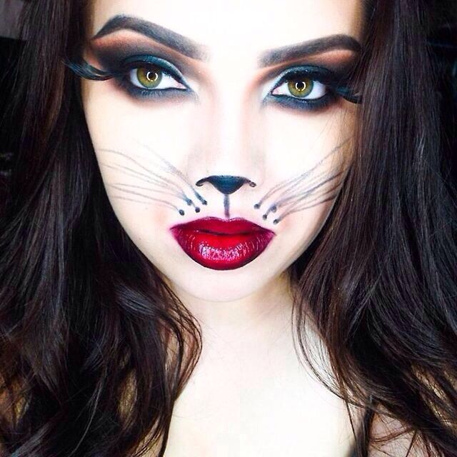 Sexy cat makeup for halloween