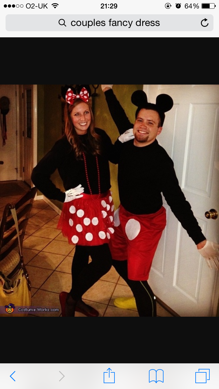 Pics Photos - Mickey And Minnie Mouse Homemade Costumes For Couples  sc 1 st  Pinterest & Pin by Denise Campbell on Disney costume s | Pinterest | Fancy dress ...
