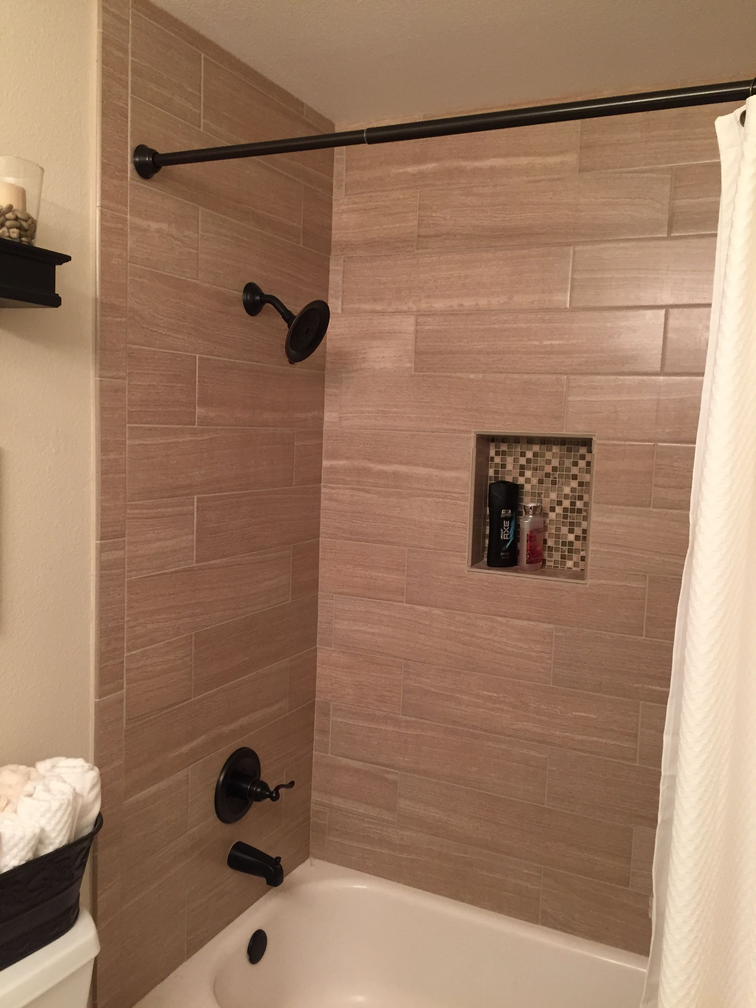 Bathroom tile to ceiling - Find This Pin And More On Bathroom Floor To Ceiling Tile