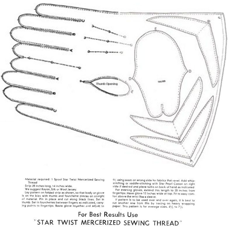 Gloves Free Pattern Sew Pinterest Gloves Vintage Gloves And Amazing Leather Glove Pattern