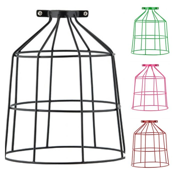 General Eclectic-Home Decor-Coloured Birdcage Wire Light Shades ...