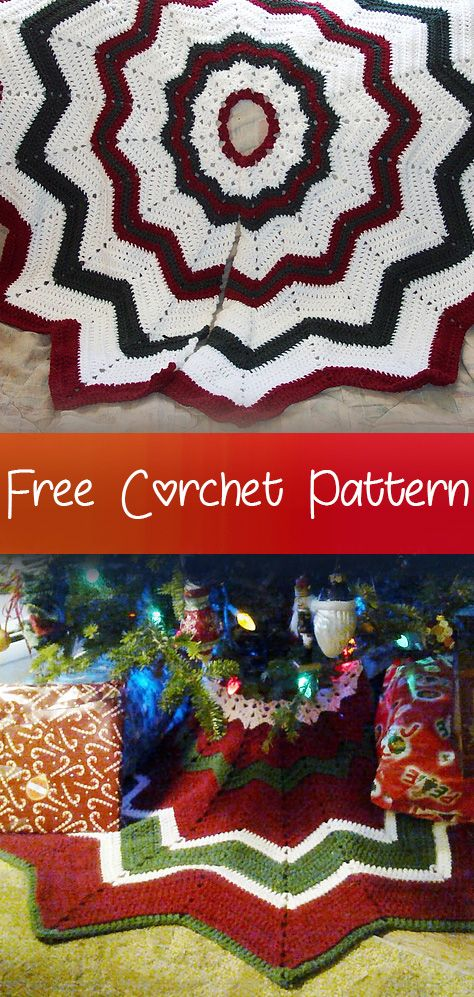 Christmas Tree Skirt Crochet Free Patterns Fashion Design