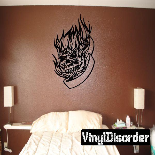 Tattoo Skull Wall Decal - Vinyl Decal - Car Decal - DC 12036