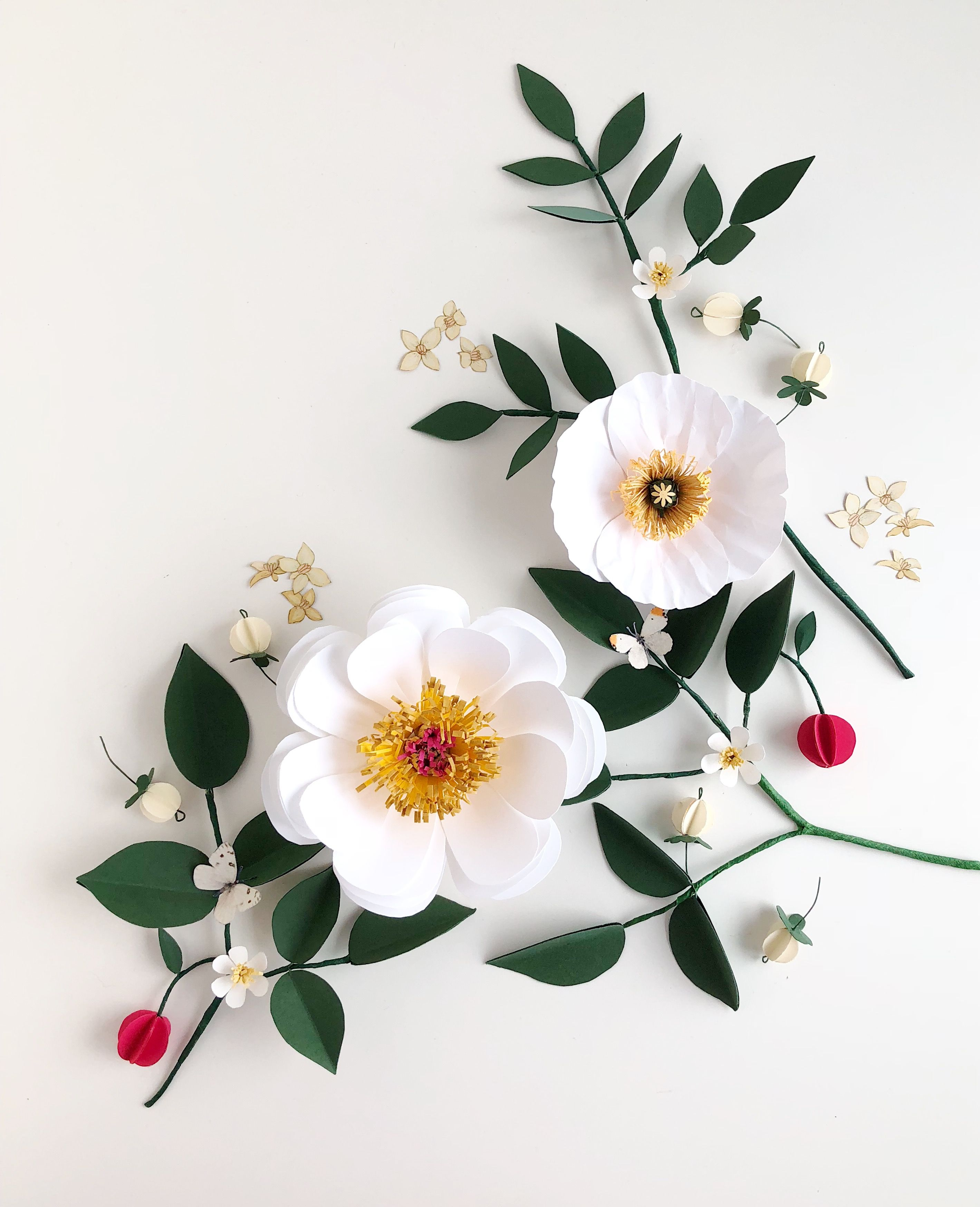 Handmade paper flowers by Leony Co  Paperflowers  Pinterest