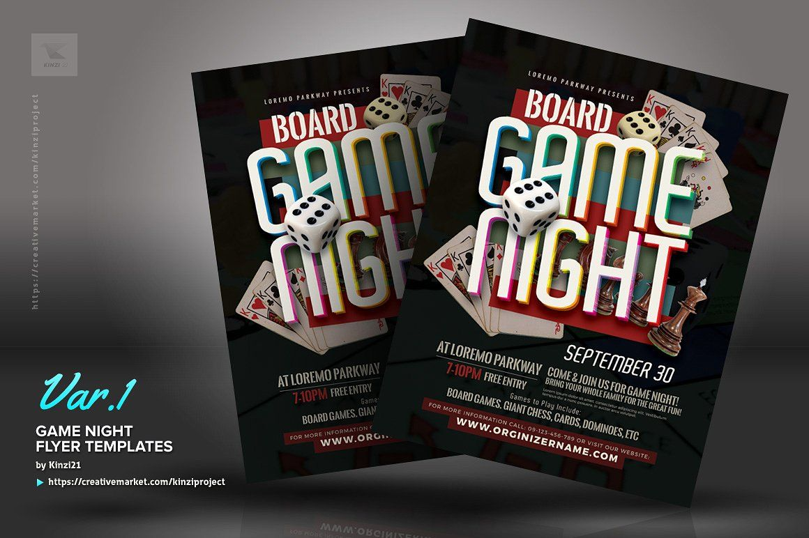 Game Night Flyer Templates Flyer Template Flyer Templates Board game night flyer template