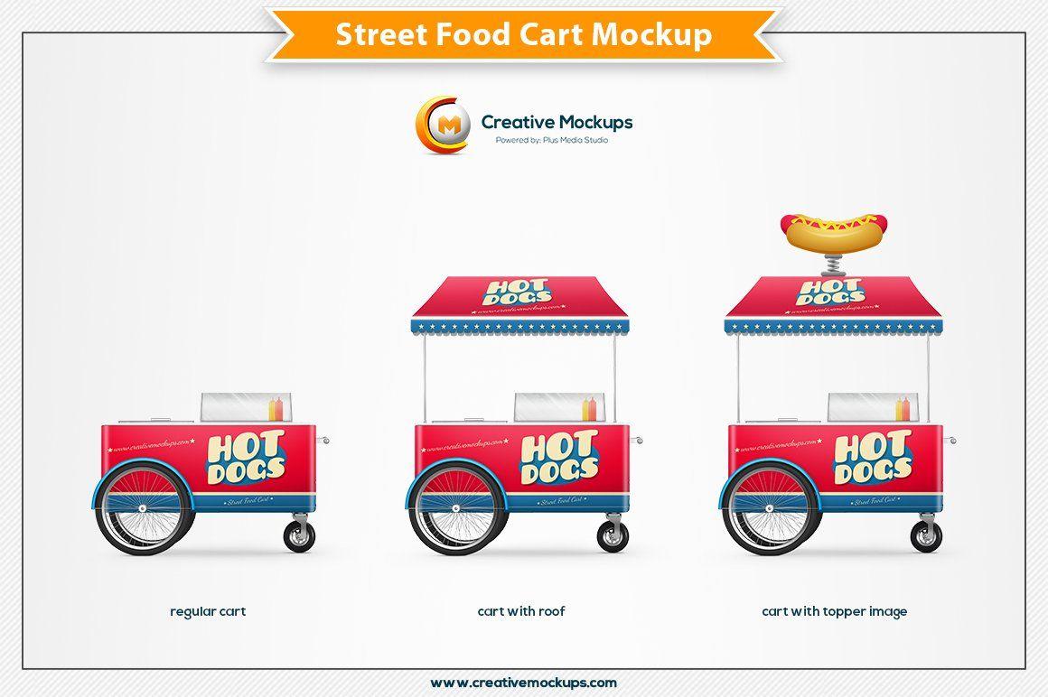 Street Food Cart Mockup Food Cart Food Cart Design Presentation Design