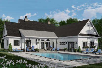 house plan 098-00316 - modern farmhouse plan: 2,743 square