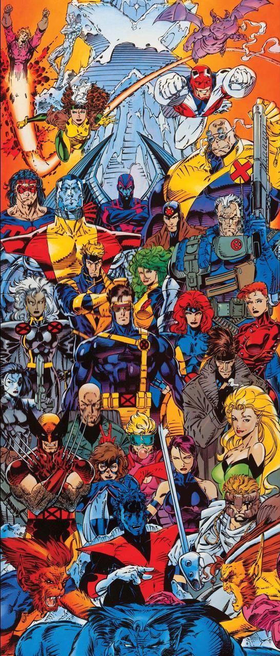 X Men By Jim Lee Marvel Art Comics Marvel