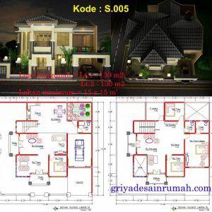 954+ denah rumah 2 lantai 3 kamar tidur | rumah