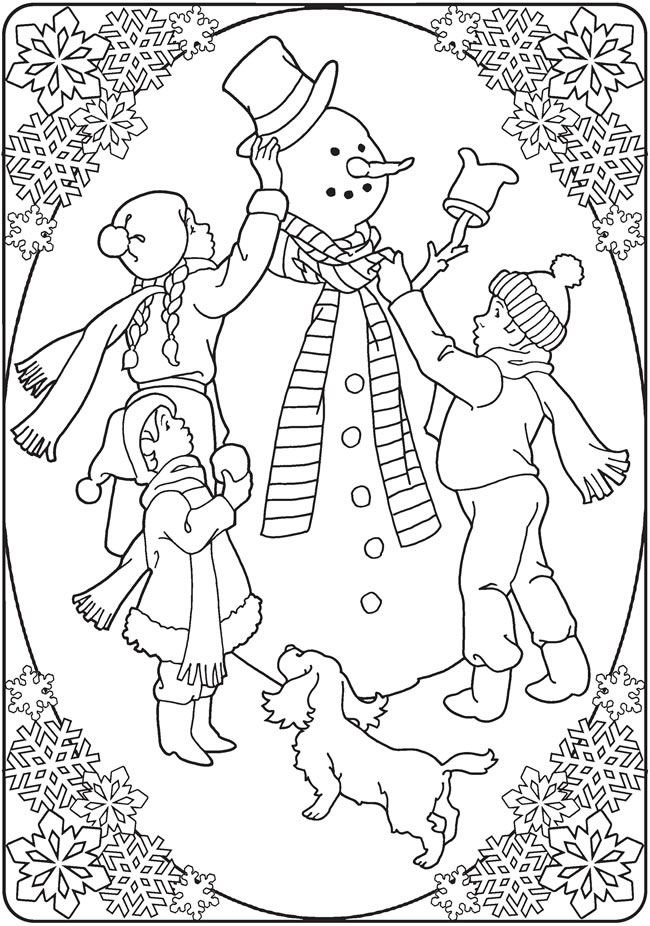 creative haven an old fashioned christmas coloring book 5 sample pages