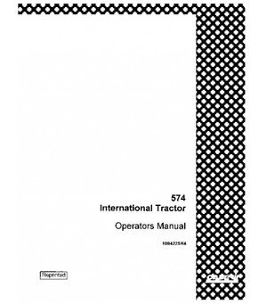 CASE IH INTERNATIONAL 574 TRACTOR OPERATORS MANUAL