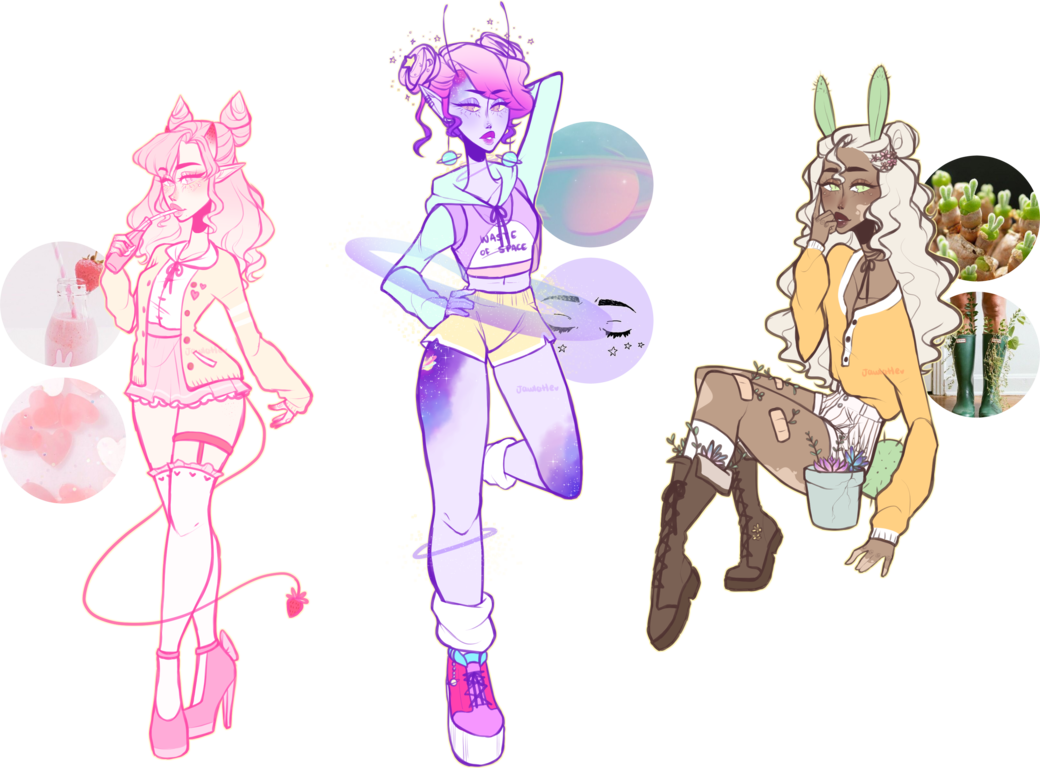 Mystery Aesthetic Adopts .:CLOSED:. By Jawlatte