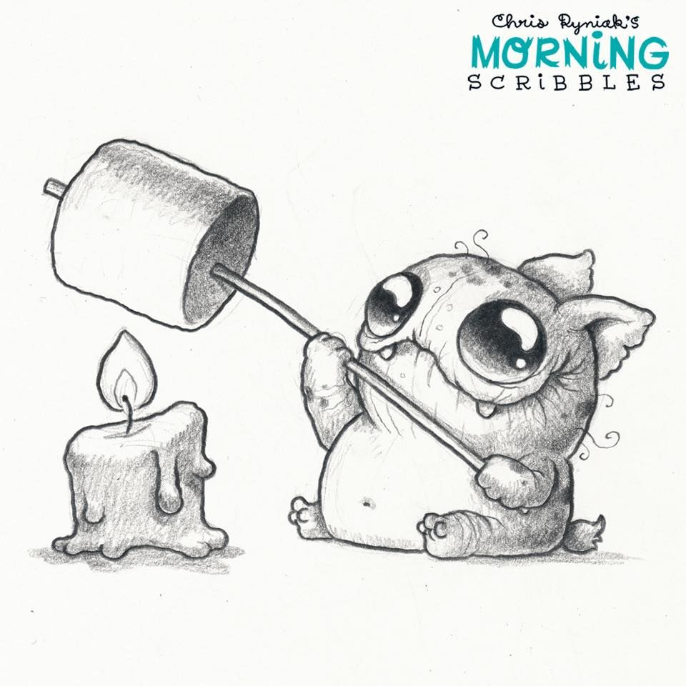 Scribble Monster Drawing : Chris ryniak morning scribbles cute pinterest