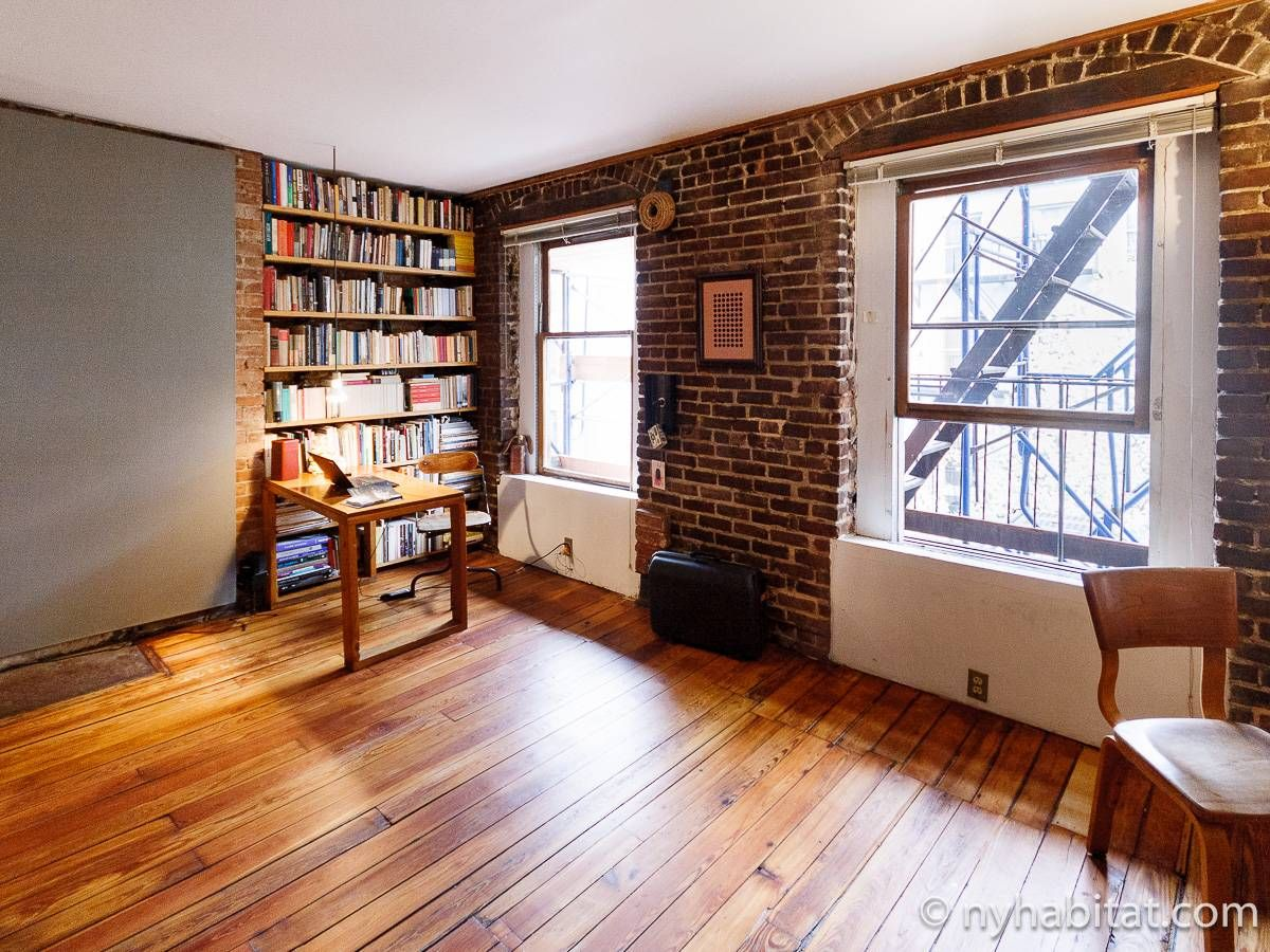 New York 1 Bedroom   Loft Apartment   Living Room (NY 16189) Photo