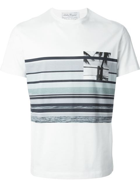 Shop Salvatore Ferragamo striped T-shirt in Il Bacio Di Stile from the  world s best independent boutiques at farfetch.com. Over 1000 designers  from 300 ... b457035ec3d