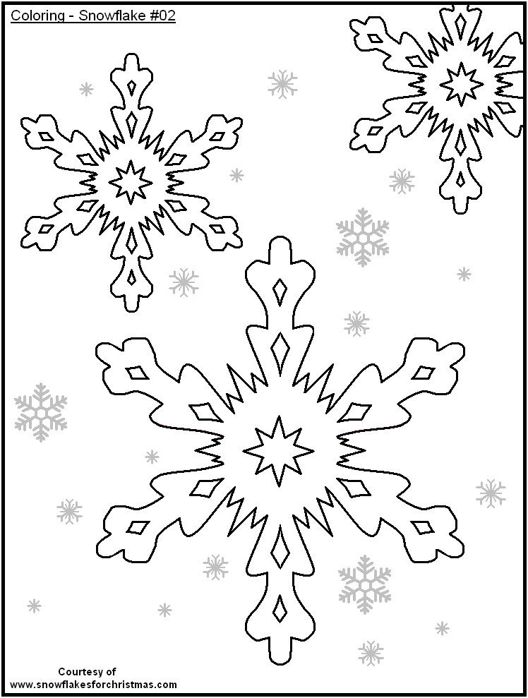 5 Images of Free Printable Snowflake Coloring Pages