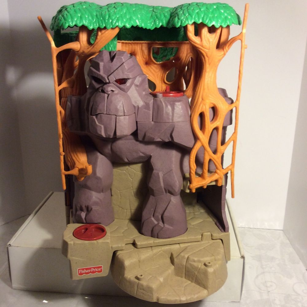 fisher price imaginext gorilla mountain jungle playset only sounds