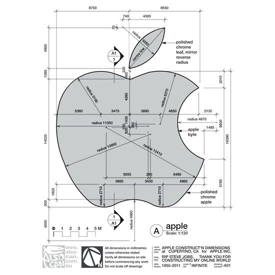 Apple Construction Dimensions