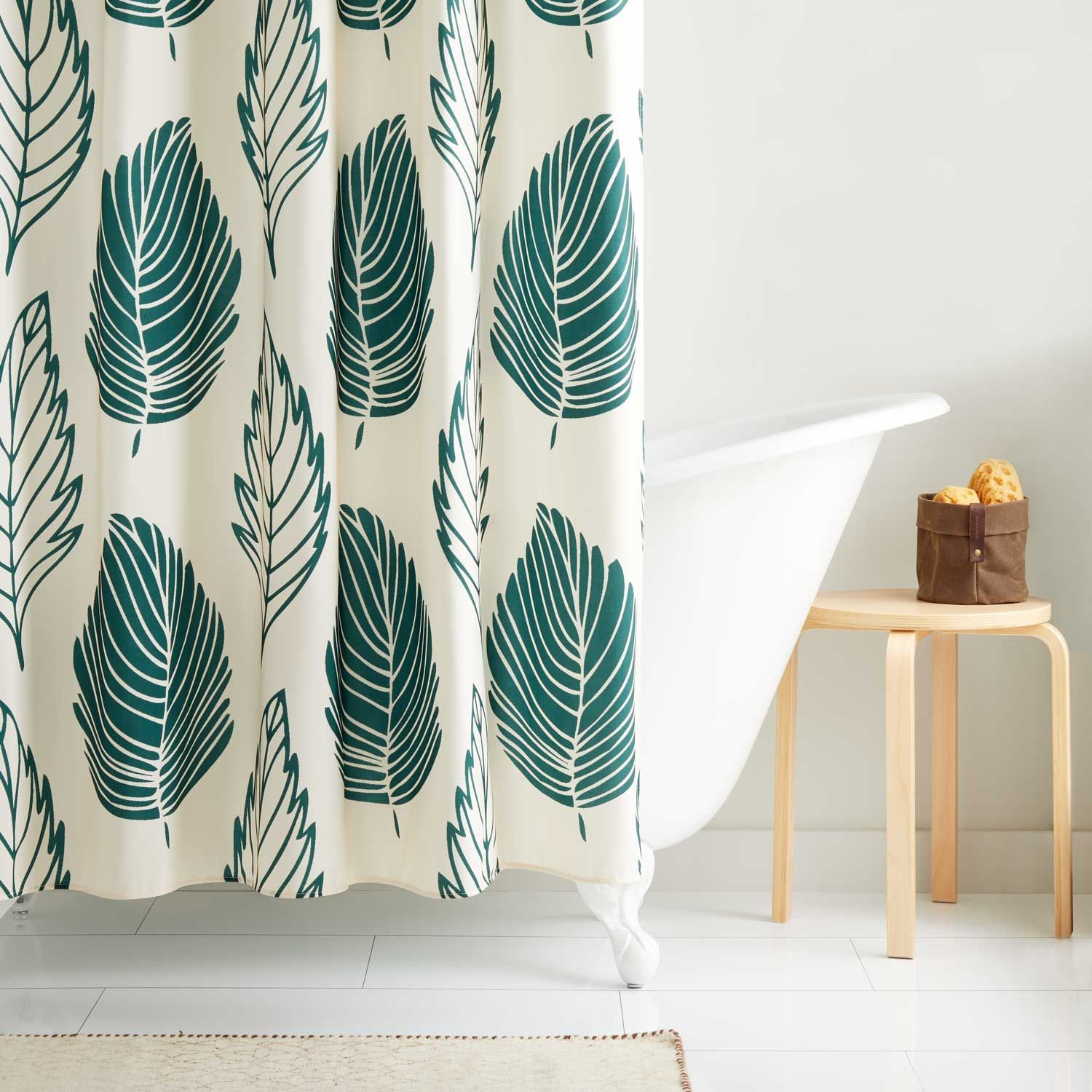 Botanical Polyester Shower Curtain In 48 X 71 Signature