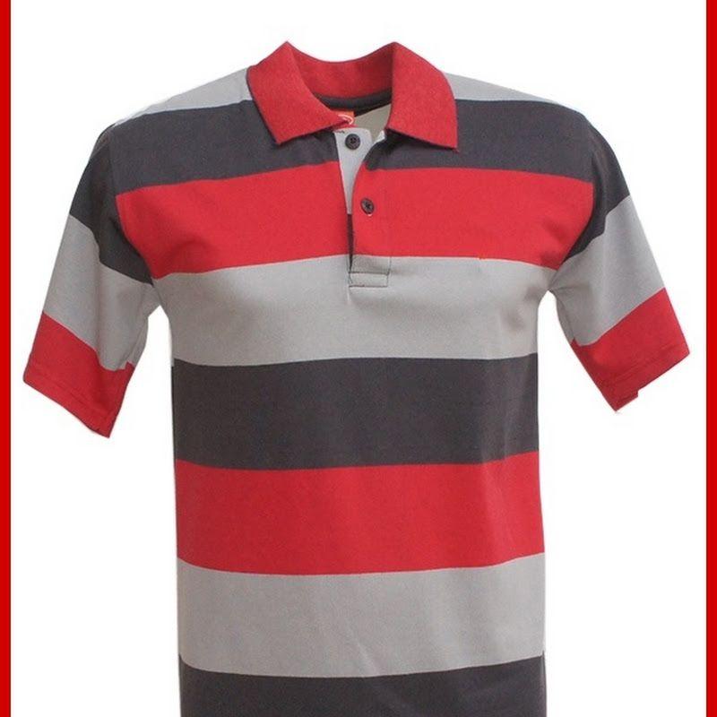 PIN JUAL  Baju Murah Online Model ADR053 Kaos Grey Merah Polo Pria Import  BMGShop Murah 714a8ce1c6