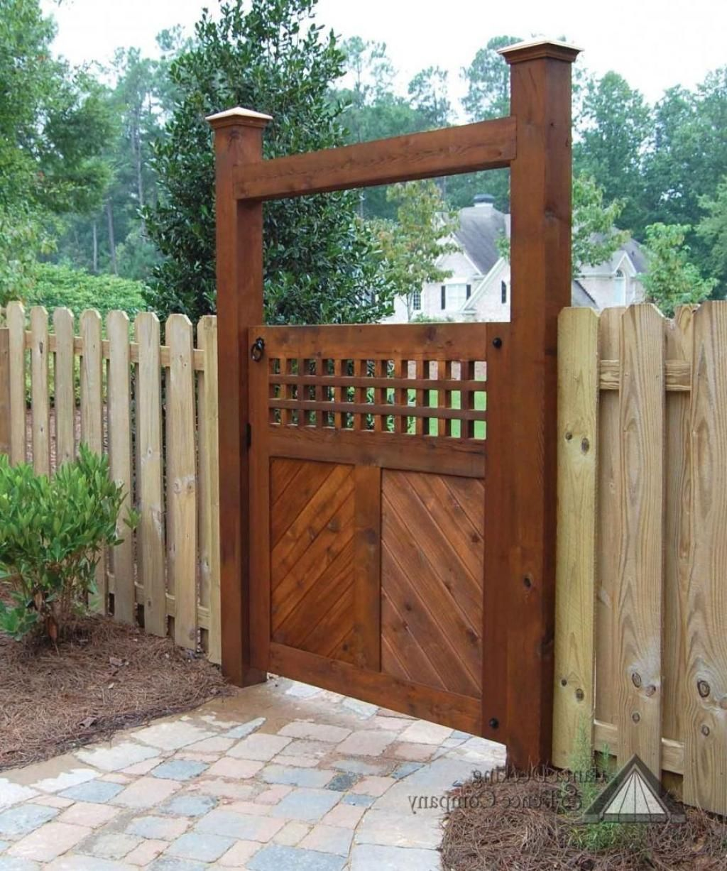 Brown Wood Garden Gate Designs Combine With Unvarnised Fence Decoration How  To Design Your Garden Into