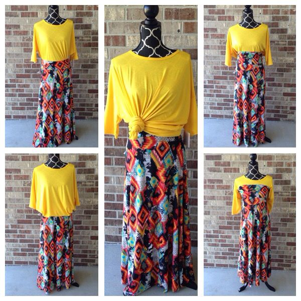 d0f5a253 One outfit, 5 ways to wear it! LuLaRoe Maxi skirt and Irma tunic ...