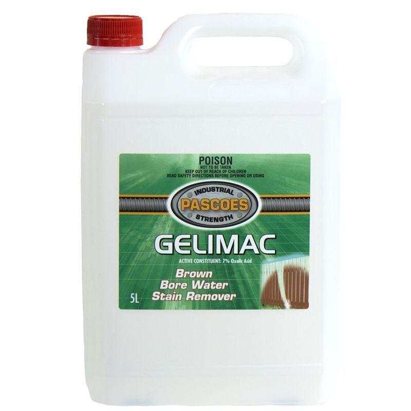 Pascoes 5l Gelimac Borewater Stain Remover Bunnings Warehouse 37 Water Stains