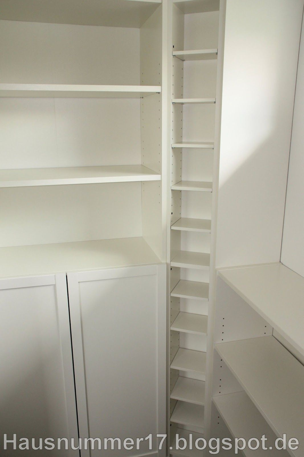 IKEA Hack: Einrichten der Abstellkammer / Speisekammer im Selbstbau ...